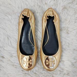 Tory Burch Reva Ballet Flat Gold